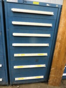 Drawer Cabinet Tool Box Stanley Vidmar 30wide 27deep 59tall No Shipping Must See