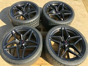 Gm Oem 2019 Zr1 Corvette 19 20 Satin Graphite Wheel Michelin Super Sport Tires