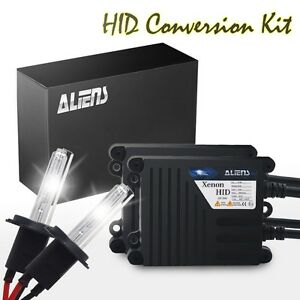 Aliens High Power 55w H7 Hid Headlight Replacement Kit Slim Ballast Xenon Bulbs