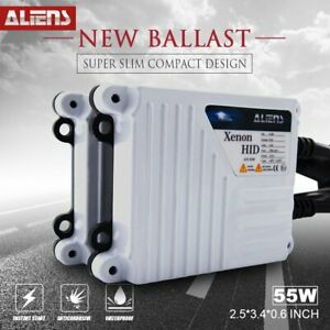 Aliens Replacement White Slim 55w Ac Hid Digital Ballast For H4 H3 H11 9006 9005