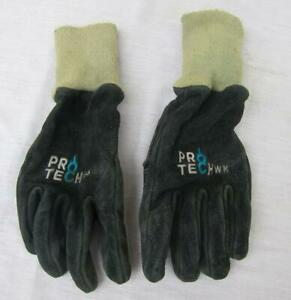 Used Pro Tech 8 Wk Leather Firefighting Turnout Gloves One Pair S M L Xl