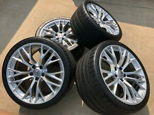 Used Gm 2019 Z06 Corvette Silver Wheel Michelin Super Sport Tire Pkg 90 Miles