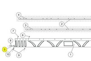 Western Plow Part 61296 Curl Brace For Poly Deflector And Rubber Deflecto