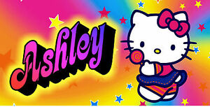 Personalized Monogrammed Custom License Plate Auto Car Tag Hello Kitty