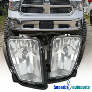 For 2013 2018 Dodge Ram 1500 Bumper Driving Lamps Fog Lights W Switch