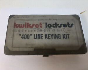 Kwikset 400 Keying Kit For Residential Locks Locksmith
