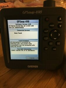 GARMIN GPSMAP 498 COLOR CHART PLOTTER FISH FINDER GPS w/ SUN COVER