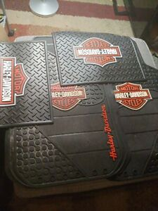 Harley Davidson Front And Rear Car Truck Rubber Floor Mats Set Used