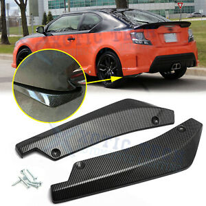 For Scion Tc Xb Fr S Rear Bumper Splitter Diffuser Canard Carbon Fiber Abs 2pc