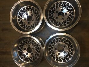 4 Appliance Vintage 15 X 8 5 15 X 7 Staggered Wheels Dish Lace Turbine