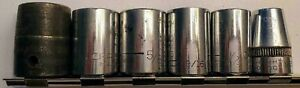 6 Piece Snap On Craftsman Duro Double Square Sockets 1 2 Drive Free Shipping