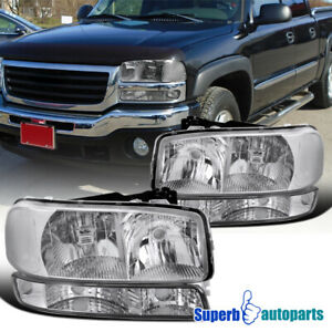 For 1999 2006 Gmc Sierra 2000 2006 Yukon Xl Headlights Turn Signal Bumper Lamps