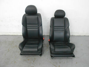 2006 06 07 08 09 10 Bmw M5 E60 Sport Black Leather Heated Front Seats 3246