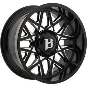4 ballistic 819 Spider 20x12 6x135 6x5 5 44mm Black milled Wheels Rims