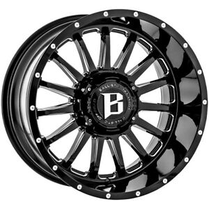 4 ballistic 964 Machete 20x10 8x6 5 24mm Black milled Wheels Rims 20 Inch