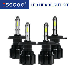 Nighteye H4 9003 Hb2 50w 8000lm Led Headlight Kit Hi lo Beam Bulbs 6500k White
