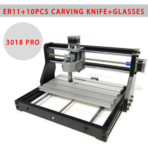 3 Axis Mini Cnc Laser Engraver Metal Marking Machine Wood Cutter 30x18cm Diy Kit
