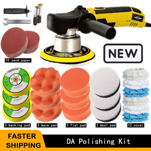 6 Dual Action Polisher Sander Orbital Car Buffer Auto Detailing Polish Wax Kit