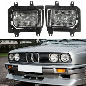 Pair Bumper Clear Fog Light Driving Lamp For Bmw E30 318i 318is 325i 85 1993 Usa