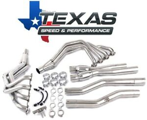 Texas Speed Corvette C7 1 7 8 Stainless Steel Long Tube Headers Catted X Pipe