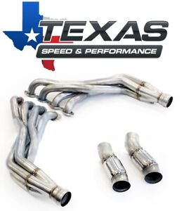 Texas Speed 2016 Camaro 1 7 8 Stainless Steel Long Tube Headers Catted Pipes