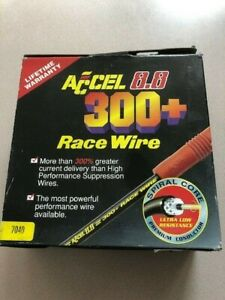 Accel 7040 8 8mm 300 Race Wire Spiral Core Low Resistance New In Box