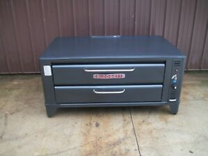Blodgett 961 Natural Deck Gas Single Pizza Oven With New Stone 6in Or 26in Legs