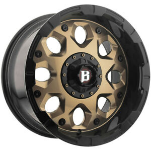 4 ballistic 968 Shield 20x10 5x135 5x5 5 19mm Bronze Wheels Rims 20 Inch