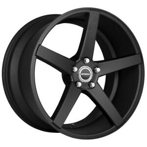 4 strada Perfetto 26x10 5x115 15mm Flat Black Wheels Rims 26 Inch