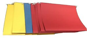 12 Office Depot Multi color Legal Size Hanging File Folders New