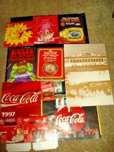 Large Lot Of Coca-Cola Memorabilia CARDS STORE DISPLAY PACKETS OPENER & MORE