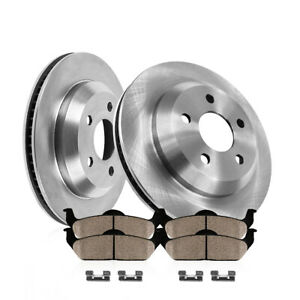 For 2013 2014 Ford Mustang Shelby Gt500 Rear Brake Rotors Ceramic Pads