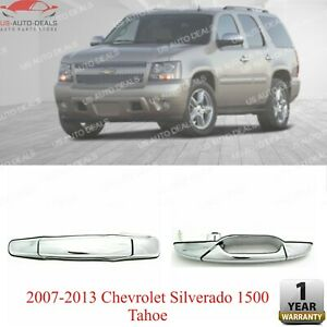 Rear Lh Chrome Exterior Door Handle For 2007 2013 Chevrolet Silverado 1500 Tahoe