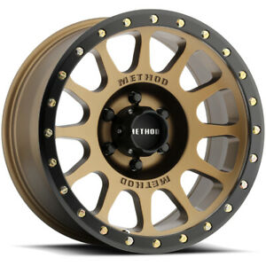 4 Method Race Wheels Mr305 Nv 20x9 6x135 18mm Bronze Wheels Rims 20 Inch