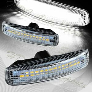 For 06 13 Range Rover Sport L320 Clear White Led Turn Signal Side Marker Lights