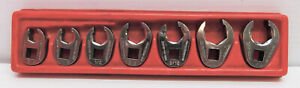 Snap On 7 Pc 3 8 Dr 6 Pt Sae Flank Drive Flare Nut Crowfoot Wrench Set 3 8 3 4