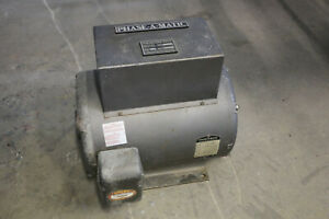 15hp Baldor Phase a matic 3 phase Rotary Phase Converter