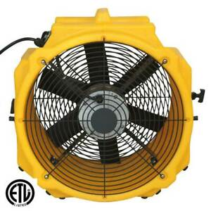 Commercial 1 4hp Floor Dryer Fan Axial Ventilator Powerful Air Mover Multi Speed