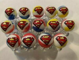 SUPERMAN  glass marble collection lot 5/8