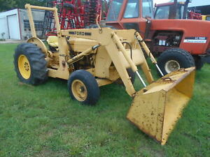 Ford 445 Industrial Tractor With Loader Complete Set Of Rear Weights