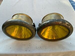 1908 1913 Cadillac Large Brass Headlamps Gray Davis Head Lamp Head Light Wow