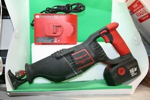 Snap On 18 V Cordless Reciprocating Saw Kit one Battery Charger Ctrs6850