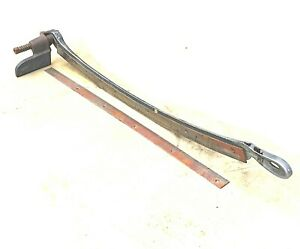 Antique vintage 32 Guillotine Paper Cutter Arm Blade And Edge Steel no Table