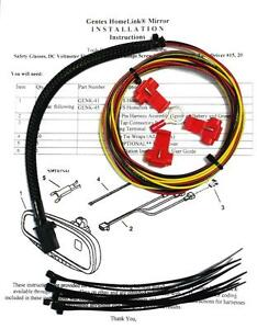 Gentex Gntx 313 453 Homelink Auto dimming Rear View Mirror Wire Wiring Harness