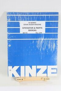 Kinze 50 Series 650 850 1050 Grain Auger Wagons Operator And Parts Manual 3 06
