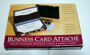 Genuine Leather Micro attache Business Card Credit Card Holder Case