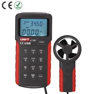 Ut362 Uni t High Precision Anemoscopes Air Wind Speed Tester Meter Usb Interface
