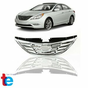 For Hyundai Sonata 2011 2012 2013 Front Upper Grille Grill Chrome Factory Style