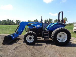 2014 New Holland Ts6 110 Tractor 4wd 835tl Front Loader Power Shuttle