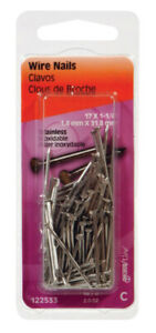 Hillman 17 Ga X 1 1 4 In L Stainless Steel Wire Nails 1 Pk 2 Oz